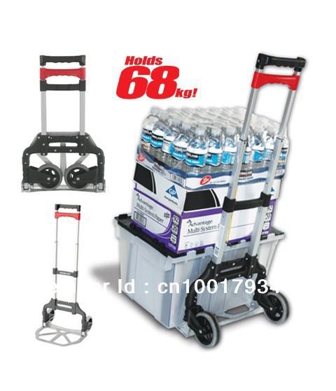 Magna Cart Folding Luggage Hand Truck Dolly Personal Aluminium Trolley(China (Mainland))