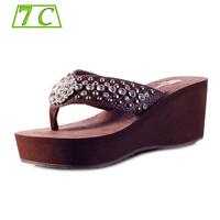Sandals For Women Shoes Designers summer Sandalias 2015 Shoes Women Platform Sandals Wedges Flip Flops Genuine Leather Slippers