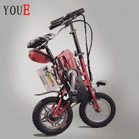 12 folding electric bicycle 36v lithium battery 250w motor