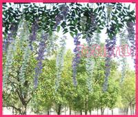 long artificial wisteria floribce /artificial flower/flower decration/Silk flower bean flower for living room decoration (92 CM)
