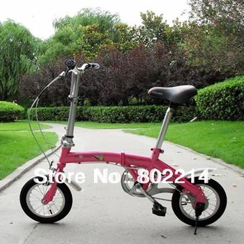 "Free Shipping High Quality 12"" Mini Children's Bike Adjustable Folding Bicycle Kid's Bike"