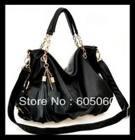 Free shipping,Hot bags 2013 women's handbag one shoulder cross-body fashion all-match tassel