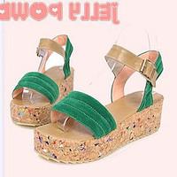 2013 wedges platform buckle platform casual all-match sandals women's shoes
