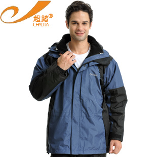 Fine check classic outdoor sportswear male outdoor jacket twinset liner disassembly(China (Mainland))