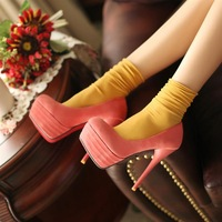 Plus size single shoes 40 41 42 43 high-heeled platform shoes platform shoes small yards women's 32 - 33 fashion