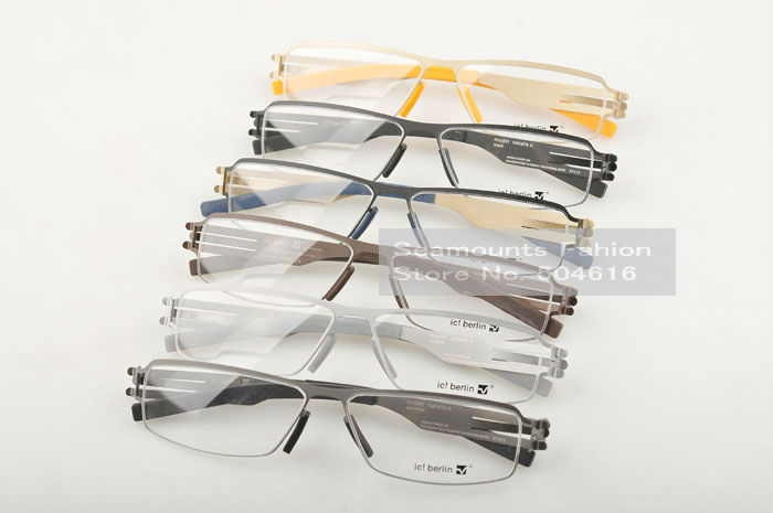 Medical Stainless Steel Mens Trendy Fashoin Metal Square Eyeglasses Optical Frames(China (Mainland))