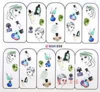 Nail art water transfer decal/stickers/print/accessories *wholsale*drop shipping * bop036-059 series
