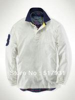 2013 New fashion brand t shirt  for men  polo long sleeve  shirt men  Wholesale SIZE S-XXL Free & Drop shipping