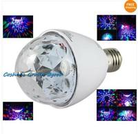 Free Shipping!!RGB LED Crystal Magic DMX Ball Bulb Mini Disco DJ Laser Stage Light Projector 3W