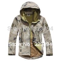 HOT TAD V 4.0 Men Outdoor Hunting Camping Stealth Soft Shell Windbreaker Jacket (A-TACS )