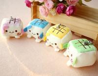 Tofu mobile phone tofu plush toy tofu plush toy