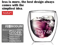 Wholesales 10pcs/lot Bodum Style Double Wall glass coffee Cup 250ml,9oz,ice cream glass Espresso cup Free shipping
