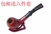 Smoking set tobacco mahogany handmade wood smoking pipe xk002 six pieces set