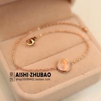 Free Shipping Vintage Fashion Moonlight Cat's Eye Bracelet Female 18k Rose Gold Color Gold Bracelet New Year Gift