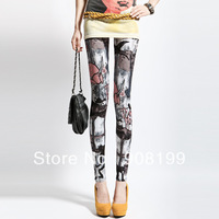 Women Cartoon Girl Leggings Tights Legwear Pants Fashion free shipping 001