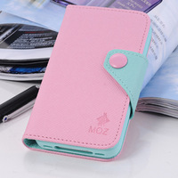 hot selling New arrival around open holster flip protective shell case for iphone 4 4s 5 retail package free shipping