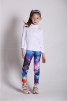 2013 New Arrival Children Leggings,Galaxy Space Universe Design Girls Legging,Smooth Elastic Fabric Kids Pants,Free Shipping