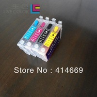 KCMY 4 dye ink cartridge for Epson T0711H 0712 0713 0714 for Epson Stylus SX410 SX510W