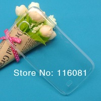 New Arrival Transparent Clear back hard case For Samusng Galaxy I9500 S4 50pcs/lot Free Shipping