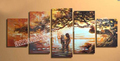 FREE SHIPPING New Arrival Pure Hand painted African Landscape painting wll art on canvas oil painting FA05L1029