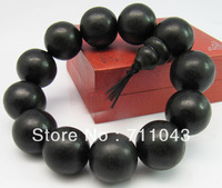 20mm*12pcs Vietnam natural Hei Qinan aloes agarwood beads hand string bracelet prayer beads