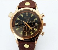 Vintage leather belt European and American style Wristwatch Fashionable Quartz watch Free Shipping