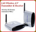 PAT220 Free Shipping2.4GHz IR Remote Extender 150m Wireless A/V Transmitter & Receiver wtih retail box packing