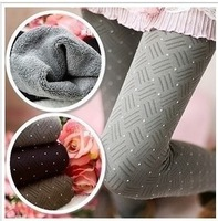 Charcoal double-layer brushed warm stovepipe pants, boots, pants thick leggings free shipping