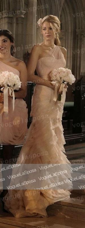 Blake Lively tulle una spalla abito prom abiti da damigella in Gossip Girl 5