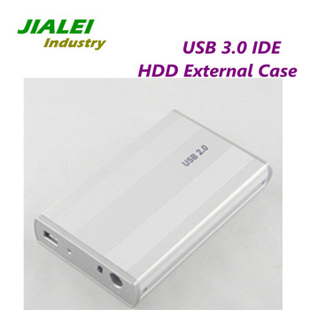"""Freeshipping 3.5"""" High Spead USB 2.0 HDD External Case IDE Port USB Hard Drive Disk Enclosure Wholesale Price"""