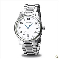 Fully-automatic mechanical watch stainless steel waterproof mens watch business casual table popular table watch male