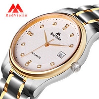 Violin commercial pop male watch casual strip fully-automatic mechanical watch fashion waterproof mens watch