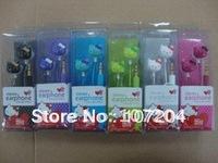 Earphone Hello Kitty in-ear Headphone Headset hello kitty earphone best price with retail boxes 20pcs/lot