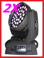 2pcs 36X10W LED Zoom Moving head light 4IN1 TRI LED Spot Light DMX Stage Lighting Touch screen Free shipping