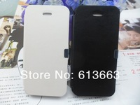 New Ultra-thin Litchi PU Leather Fold Flip Open Skin Case Cover Protector For iphone 4 4G 4S,200pcs/lot,free shpping
