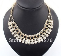 2013 New Fashion Luxurious Chokers Necklace with Big Crystal  Superstar Style,2 colors  Free Shipping