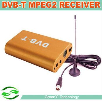 Free Shipping, Car Mobile Digital DVB-T MPEG2 TV Receiver Box For Car DVD Player