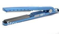 "Free shipping Titanium Ceramic Hair Straightening Straightener Flat Iron 1 1/4""  PRO Nano send with 110v and 220v only"