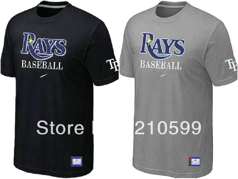 Tampa Bay Rays Baseball T Shirt sport brand t-shirt cheap grey black man's tee cotton short sleeve round collar tshirt jersey(China (Mainland))