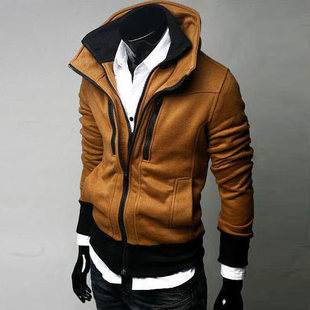Free shipping 2013 spring and autumn and winter men's clothing male outerwear thickening slim the trend of casual cotton jacket