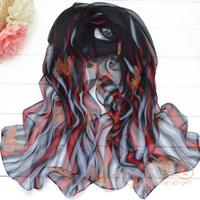 2013spring and autumn scarf faux silk long silk scarf georgette Women sun cape