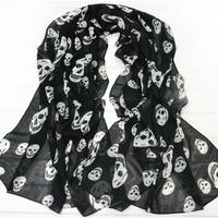 2012 women's lengthen scarf fashion skull scarf fashion large cape