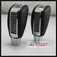 Luxury car dad diamond shift knob general manual automatic gear refires