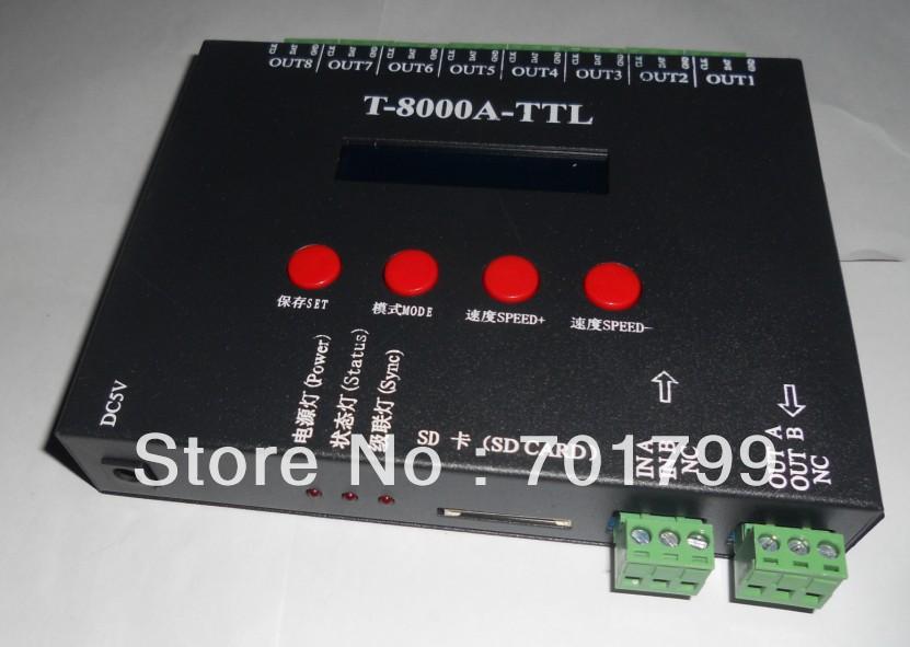 8 port off-line T-8000A led sd