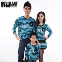 Family fashion 2013 family pack spring long stripe a373 family set t-shirt