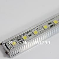 1m long 5050 72leds led rigid bar;DC12V input;U type alu housing, waterproof