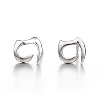 Hot-selling pure silver jewelry 925 silver stud earring cat stud earring earrings jewelry