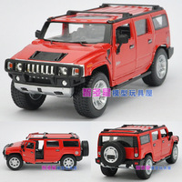 Free shipping Soft world h2 Large hummer suv alloy car model toy