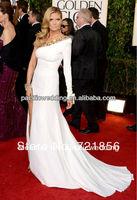 cd-06 2014 the 70th golden globe awards Heidi Klum scoop long sleeve celebrity dresses