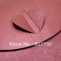 250g Pearl Paper 12*19cm High Quality Envelope, Dark Red, Donot Need Sticker, Heart Knot, Wedding Envelope, Invitation Envelope